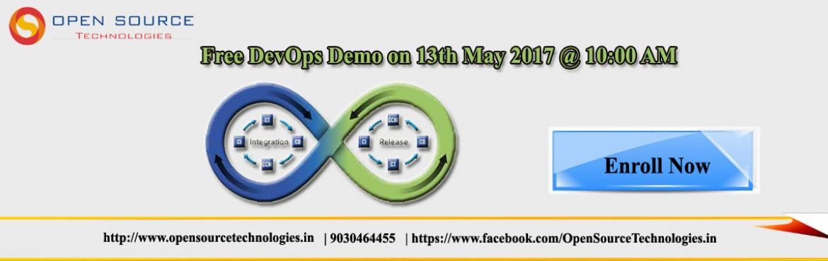Book Online Tickets for Meet Our Technical Experts by joining Fr, Hyderabad. Enter into the world of DevOps by joining Best DevOps Training Institute in Hyderabad   About the Event    DevOps is the complete software development methodologies that smoothen and streamline the collaboration, communications and integrat