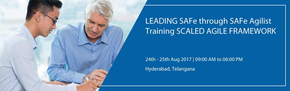 """Book Online Tickets for LEADING SAFe through SAFe Agilist Traini, Hyderabad.      """"Leading from the front: Scaling Agile to Leading the Lean-Agile Enterprise."""" When we talk about Scaling Agile Framework, SAFe Agilist training and certification is basic and mandatory training for scaling large scale org"""