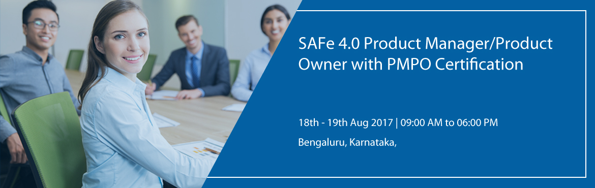 Book Online Tickets for SAFe 4.0 Product Manager/Product Owner w, Bengaluru.     Delivering customer value through effective execution and coordination of program increments in the enterprise   SAFe 4.0 Product Manager / Product Owner with PMPO Certification In this two-day course, you will learn how the r