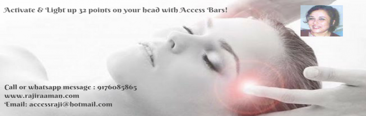 Access Consciousness Bars in Chennai, Light up 32 points on your head.