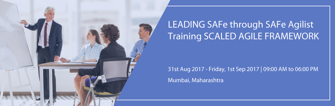 """Book Online Tickets for LEADING SAFe through SAFe Agilist Traini, Mumbai.      """"Leading from the front: Scaling Agile to Leading the Lean-Agile Enterprise."""" When we talk about Scaling Agile Framework, SAFe Agilist training and certification is basic and mandatory training for scaling large scale org"""