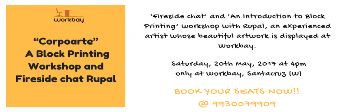 Book Online Tickets for A Block Printing Workshop and Fireside c, Mumbai.  Learn to make your own Designer Tote/Sling-bag with Bespoke Block Printing Designs.Do you want to know more about a career in Art ? How does the Art industry function? Can you get a regular income as an artist?Get answers to all these questions