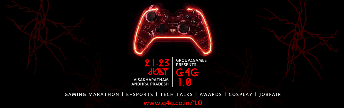 Book Online Tickets for G4G 1.0   India Biggest Gaming Event., Visakhapat. A Gaming Fest with all 3-Day Event filled with E-Sports, Tech Talks, Cos Plays, Awards and lots of Entertainment. A projection of 3000 people are expected to attend the event with Students, Gamers and Studios all across the Country.There are various