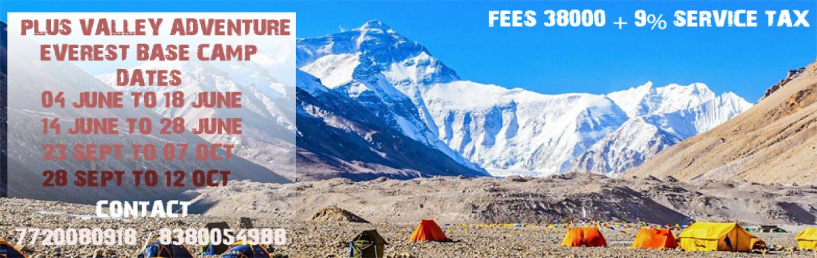 Book Online Tickets for Everest Base Camp, Pune.  Everest Base CampA Trek to the Everest Base Camp in Nepal. Cross over many high mountain passes and trek on the glaciers. Experience the warmth of the local Sherpa culture. Visit some scenic Monasteries. Get a spectacular panoramic view of the