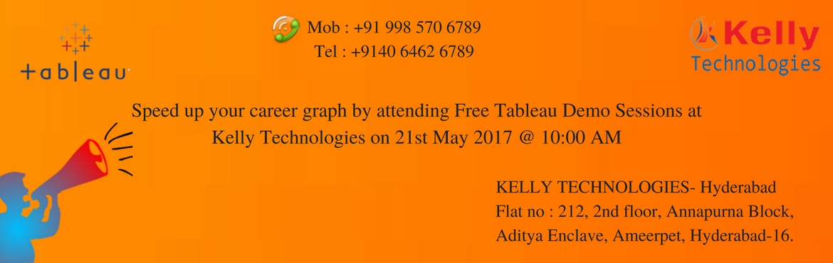 Speed up your career graph by attending Free Tableau Demo Sessions