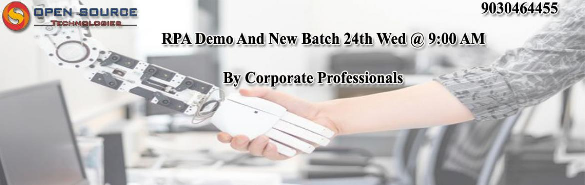 Join High Interactive Robotics Process Automation New batch and Demo at Open Source Technologies