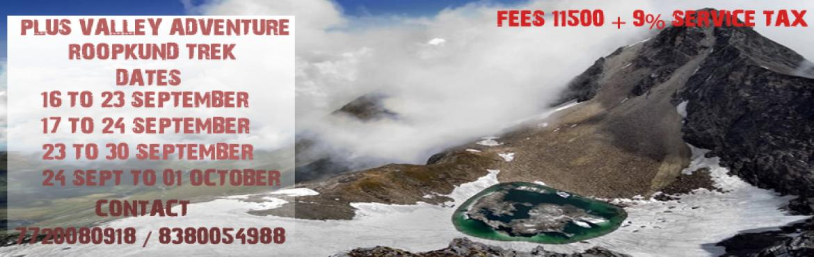 Book Online Tickets for Roopkund Trek, Pune. ROOPKUND TREKThe Roopkund Trek is the quintessential Himalayan trek. This trek has snowcaps, meadows, lakes, forests, folklore; and yes, it has an intriguing flashback too. Roopkund is a mountain lake, lying in the Garhwal Himalayas in the Cham