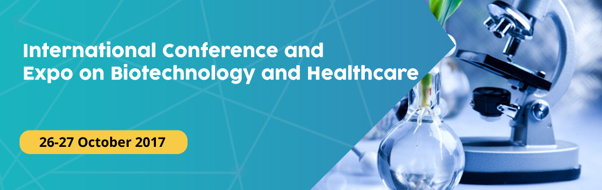 Book Online Tickets for International Conference and Expo on Bio, Hyderabad. The 2017 International Conference and Expo on Biotechnology and Healthcare will be held during October 26-27, 2017 in Hyderabad, India. Biotechconference 2017 is to amalgamate innovative academics and industrial experts in the field of Biot