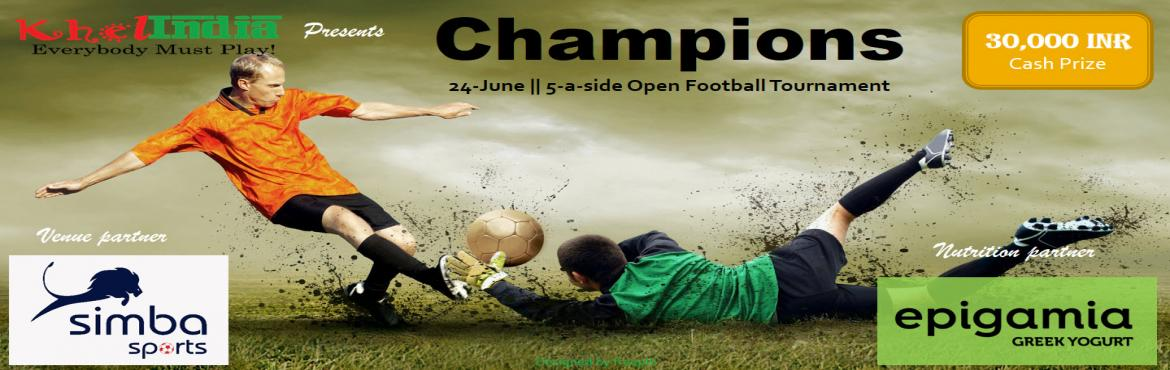 Book Online Tickets for Champions - Open Football Tournament, Bengaluru. Khel INDIA is delighted to launch the first edition of the Champions Football Trophy – Open football tournament. A whooping 30,000.00 INR CASH PRIZE to be won. Golden boot and Best Goalkeeper awards to be won!! -Yummy snacks for all participant