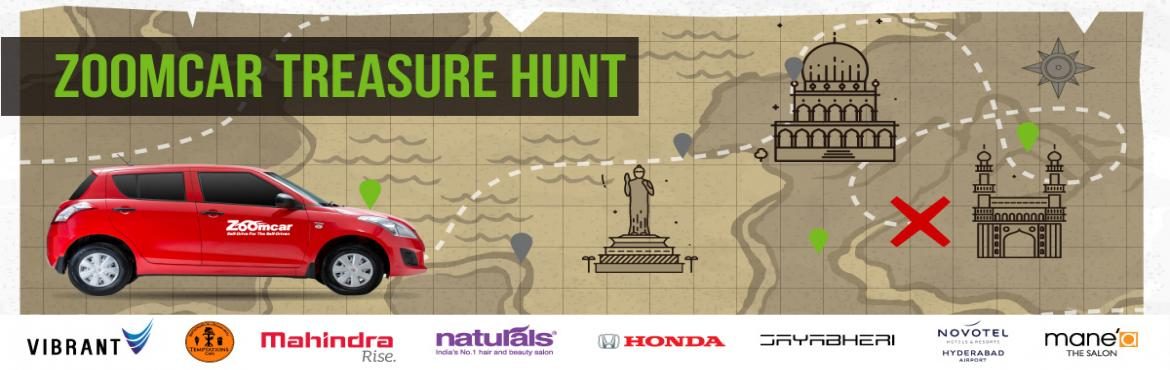 Book Online Tickets for Zoomcar Treasure Hunt, Hyderabad.    It is time to go on a hunt! To commemorate Zoomcar\'s 2nd anniversary in Hyderabad, we are doing what we do best. Getting you to Self-Drive while having fun, adventure and creating memories by organizing a one of it\'s kind&nbs