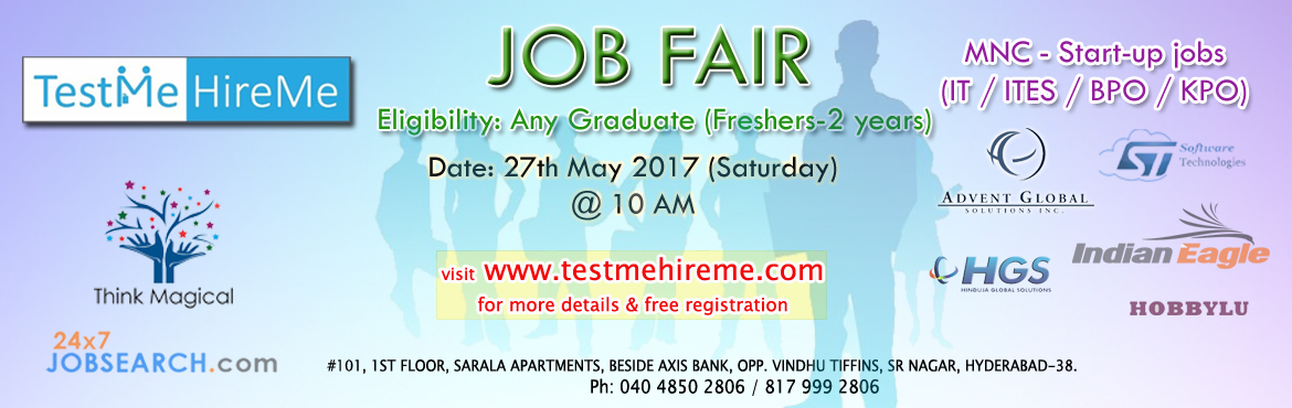 Test Me Hire Me Job Fair for graduates