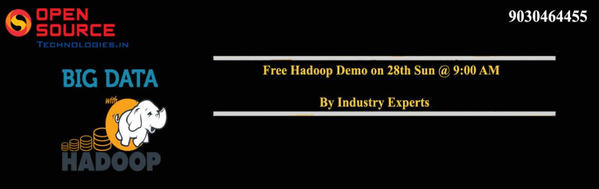 Free Hadoop Demo By The Experts