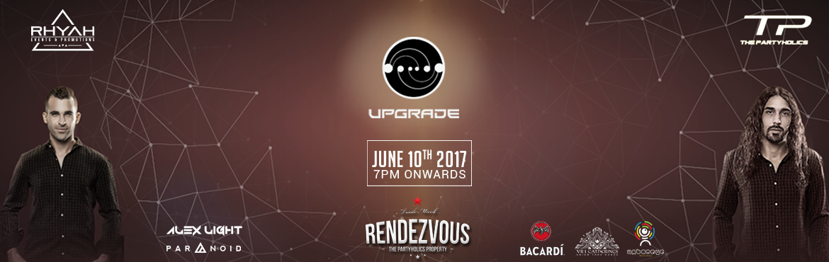 Book Online Tickets for Upgrade Live in Hyderabad @ Rendezvous, Hyderabad. UPGRADE Is the Mega Project by Raz Kfir & Udi Pilo. Upgrade\'s Music brings a Perfect mix of new-age melodic, powerful psytrance combined with ground-breaking bass drops and epic breaks. About the event Upgrade LIVE 2017, backed by Bacardi is an