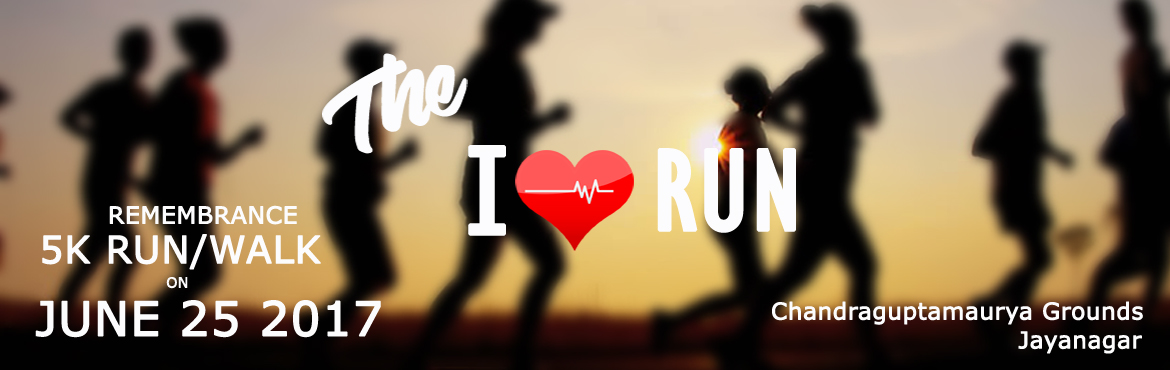 Book Online Tickets for I HEART RUN, Bengaluru.  It is said that the living owe it to those who no longer can speak to tell their stories for them. In memory of our beloved man Nithin Karthik, the I HEART RUN is an effort to start off where he left. He had only recently discovered his love fo