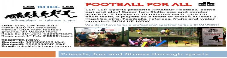 FOOTBALL FOR ALL - LEH Khel LEH