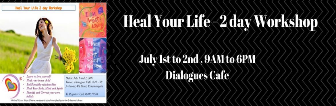 Book Online Tickets for Heal Your Life, Bengaluru.  Our thoughts create our reality. Heal Your Life® is a transformational workshop that has helped millions across the globe create a life they wish by harnessing the power of thought.Who should do this? It's for people from all wal