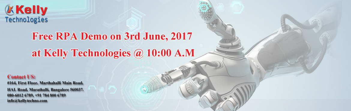 Attend the Value-added Business Transformation RPA Free Demo on 3rd June