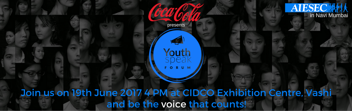 Book Online Tickets for YouthSpeak Forum 2017, Navi Mumba. With this Youth Speak Forum 2017, let your voice be heard because it matters. YouthSpeak Forum is a premiere event that aims to create an environment where people from diverse backgrounds can cross-pollinate ideas, share insights and gain new perspec