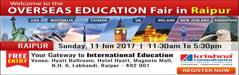 Overseas Education Fair Raipur 2017 - Krishna Consultants