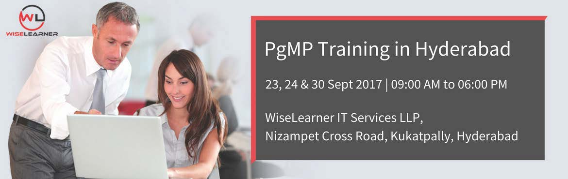 Book Online Tickets for Best training for PgMP in Hyderabad, Hyderabad. OVERVIEW The Program Management Professional (PgMP)® credential from Project Management Institute (PMI)® addresses the community of professionals who are responsible for the coordinated management of multiple projects that are in alignment wi