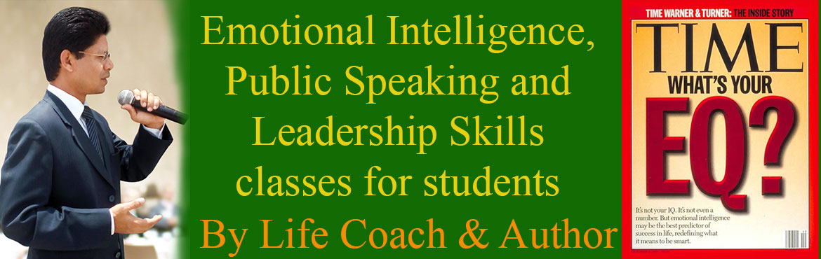 Book Online Tickets for Emotional Intelligence and Public Speaki, Hyderabad. Emotional Intelligence, Public Speaking and Leadership Skills Classes for Students  To remove anxiety, worry and stage fear   Improve concentration power to score better marks in life. Research show student with high Emotional Intellig