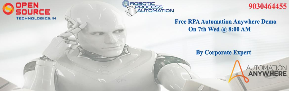 Join Robotics Automation Anywhere Tool Free Demo