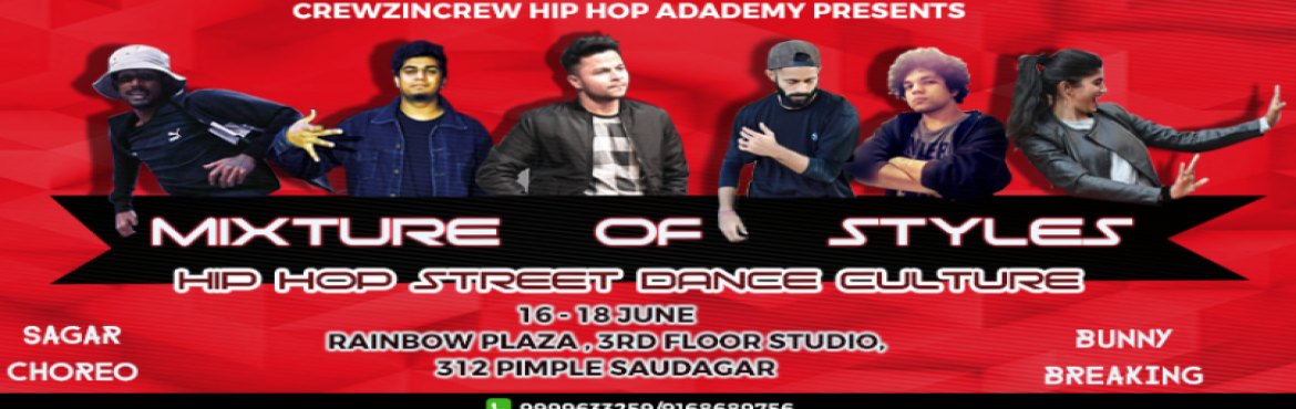 Book Online Tickets for Mixture of styles:Dance Workshop, Pune. Crewz In Crewz PRESENTS The most awaited dance workshop is MIXTURES OF STYLES |DANCE WORKSHOP .Craziest street hip hop culture will be defined in this workshop .   When sound beats synchronises with a dancer\'s heart beat it creates a revolution