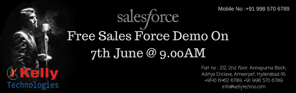 Get Interacted With Our Efficient Business Experts  By attending Free Demo On Sales Force