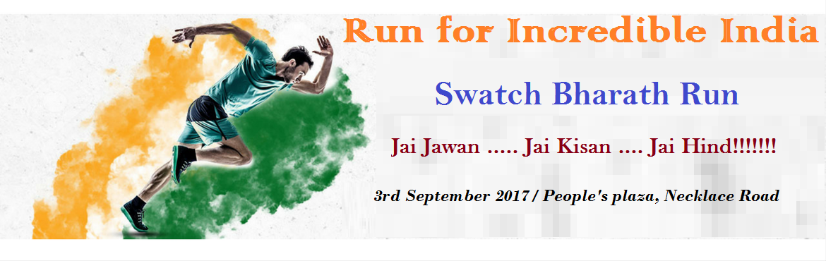 Book Online Tickets for 10K Swatch Bharath Run for Greener and H, Hyderabad. Let's Feed India (Legends Group) is organizing the 1st Edition of 10K Swatch Bharath Run on 3rd September 2017. This is a charity event with two important objectives, awareness & campaign for Greener & Healthier