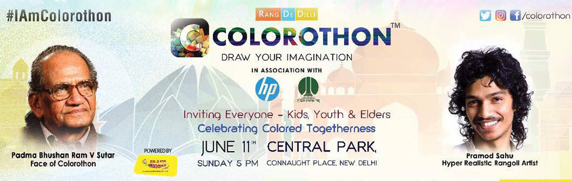 Book Online Tickets for Colorothon - Draw Your Imagination, New Delhi. COLOROTHON - Draw Your Imagination is a concept, a concept that is curiously creative, because it encapsulates something that is so fundamental, something that comes naturally to us. Over the years, we have succumbed to the systemic barriers, wh