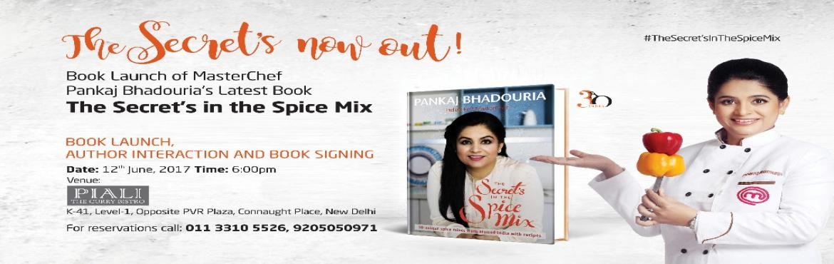 Book launch and Live cooking session with Pankaj Bhadouria at Piali