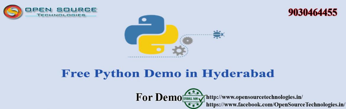 Free Python Demo At The Open Source Technologies .
