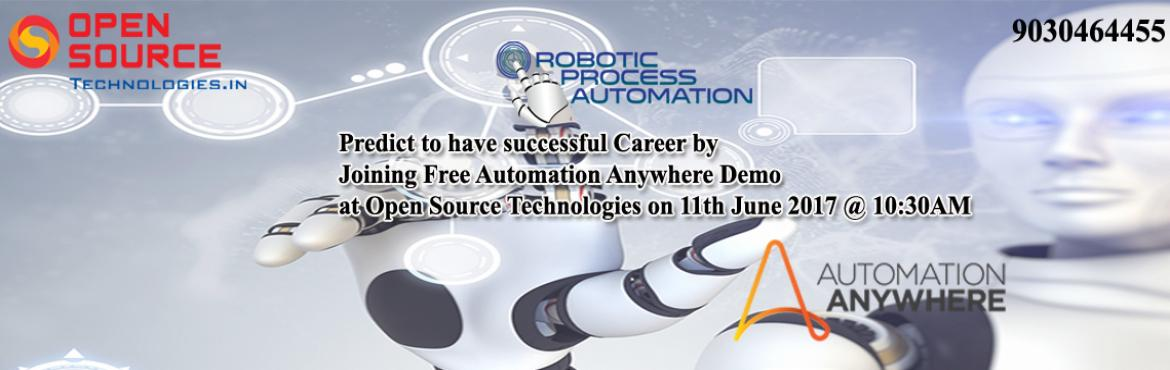 Predict to have successful Career by Joining Free Robotics Automation Anywhere Demo