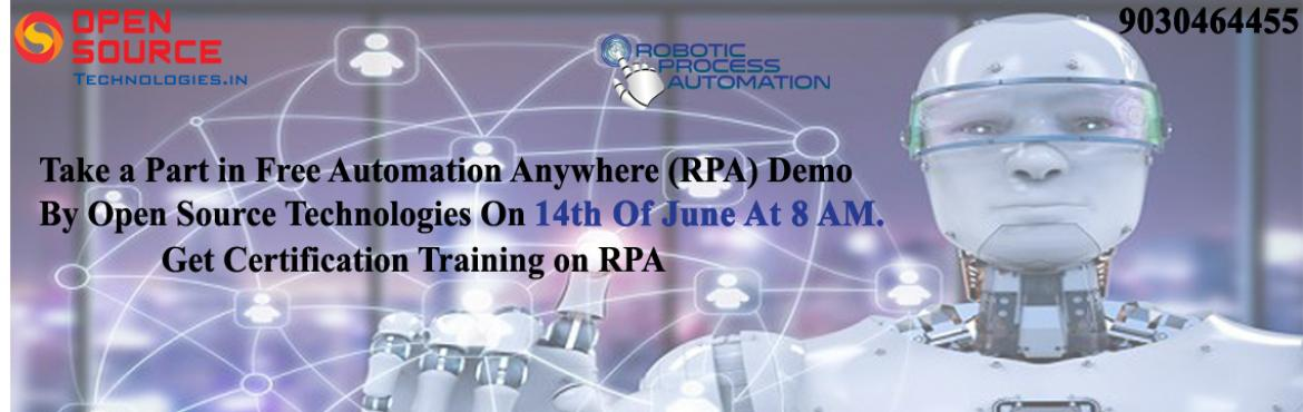 This Free Automation Anywhere Demo is must attend for the job seekers, business analysts, graduates and as well as for the students in different areas