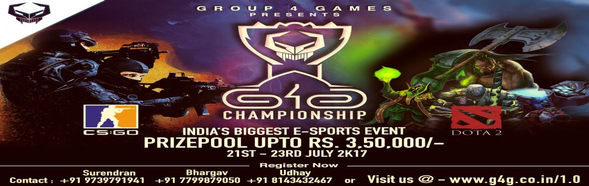 G4G 1.0   Call to Gamers   for  INDIA Biggest E-Sport Event