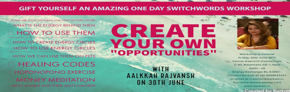 Switchwords Workshop with Aalkkah Rajvansh on 30th June