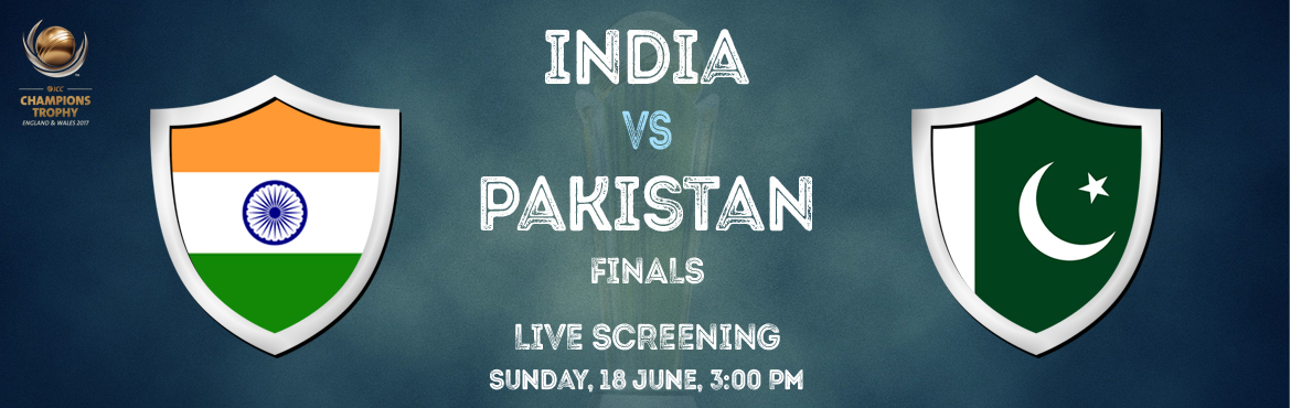Book Online Tickets for ICC Champions Trophy Final Live Screenin, Hyderabad. Watch India and Pakistan battle it out for the Champions Trophy. Catch all the nail-biting moments on the big screen, and experience the adrenaline rush that Cricket often brings with it! In a stadium-like ambiance.
