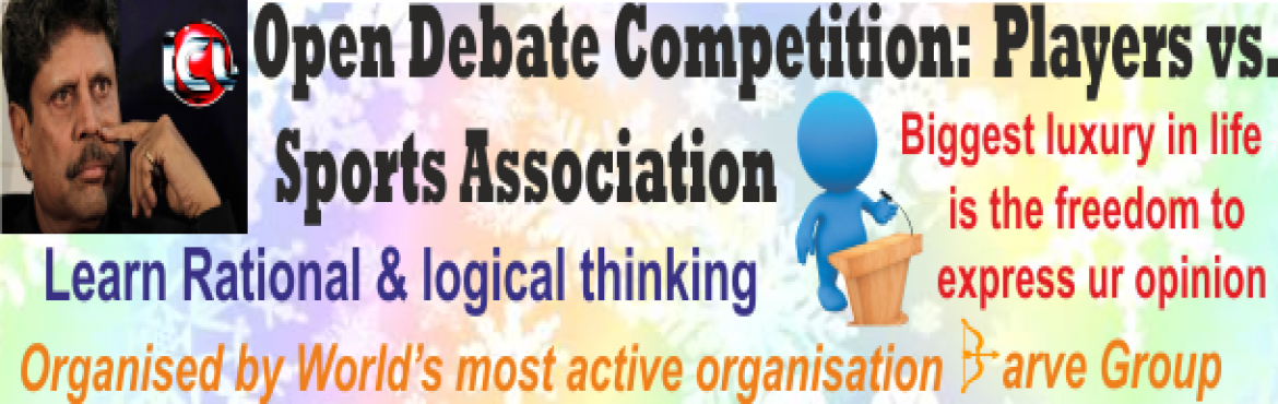 Debate competition: Sports Association vs. Players