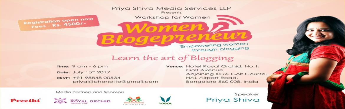 Book Online Tickets for Blogging workshop, Bengaluru. Blogging Workshop In Bangalore for women who want to monetize their passions and be an Entrepreneur through blogging. I\'m super excited to have joined hands with known brands to bring you live brand activities and get you kick started in this b