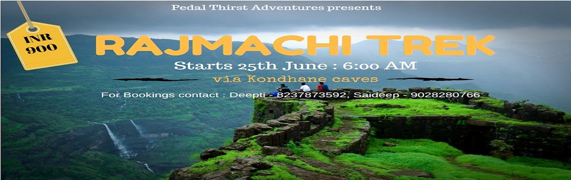 Book Online Tickets for RAJMACHI TREK, Karjat.   About Program :   Rajmachi village is located in the Lonavala region. It has got access routes via Lonavala and karjat. Karjat route offers an ancient cave named as Kondhane caves enroute the trek. The village of Udhewadi lies on the mass