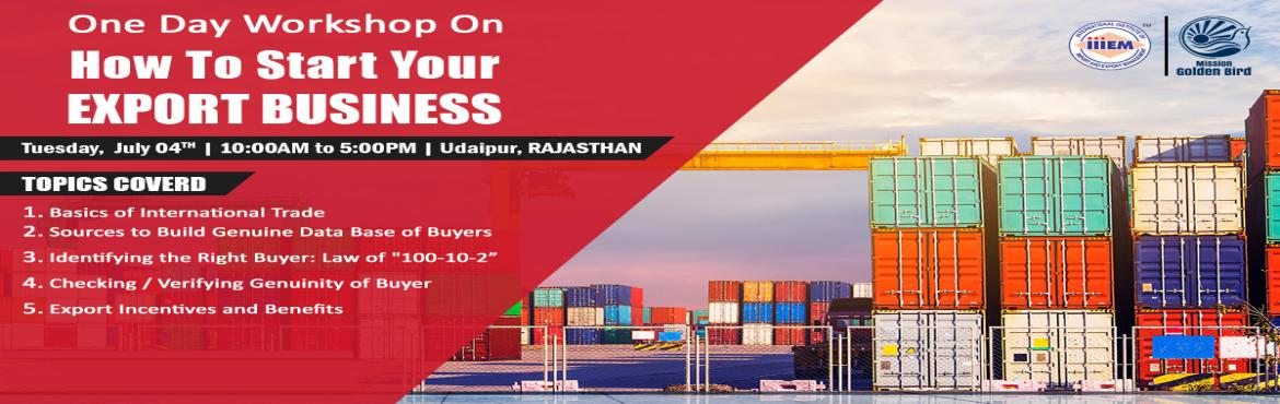 Book Online Tickets for One Day Workshop on - HOW TO SEARCH BUYE, Udaipur. Don't know how to communicate with buyers? Learn to interact with buyers for your business by attending One Day Workshop on \