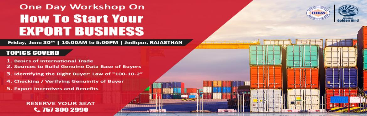 One Day Workshop on - HOW TO SEARCH BUYERS FOR EXPORT
