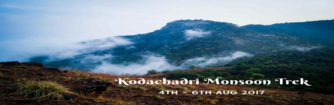 Book Online Tickets for Kodachadari Monsoon Trek | Plan The Unpl, Bengaluru. Kodachadri Trek comprises of a complete package of natural beauty - it possesses compact forests, beautiful waterfalls en route, gorgeous jungle trails and picturesque landscapes! Located amidst the Western Ghats of Karnataka, Kodachadri is 1,343 met