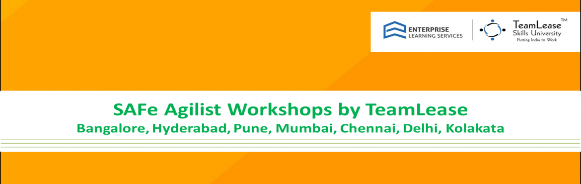 Book Online Tickets for Leading SAFe Agilist Workshop @ Hyderaba, Hyderabad.  Course Overview   The SAFe Agilist (Leading SAFe) certification program is two-day training program which teaches theLean-Agile principles and practices of the Scaled Agile Framework® (SAFe®). You&rsqu