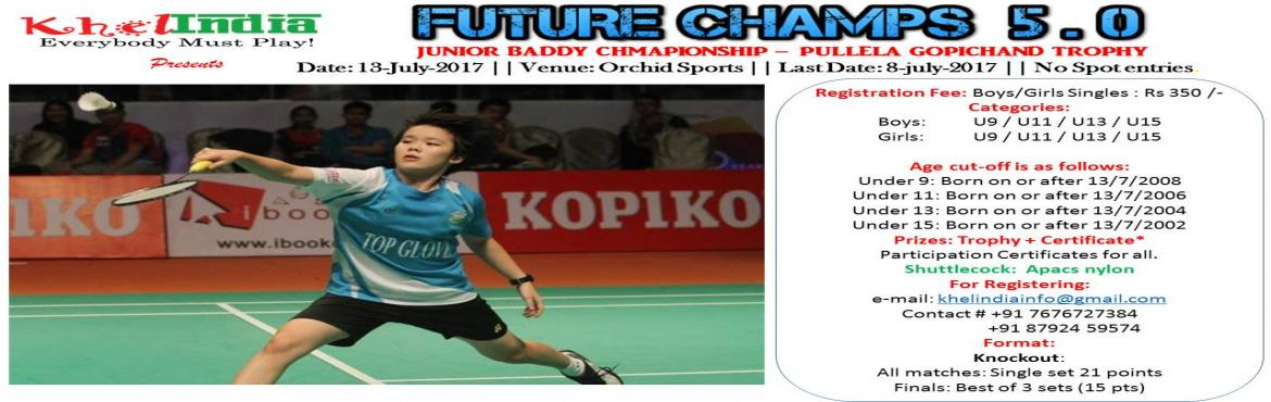 Pullela Gopichand Trophy - INTER SCHOOL BADMINTON COMPETITION
