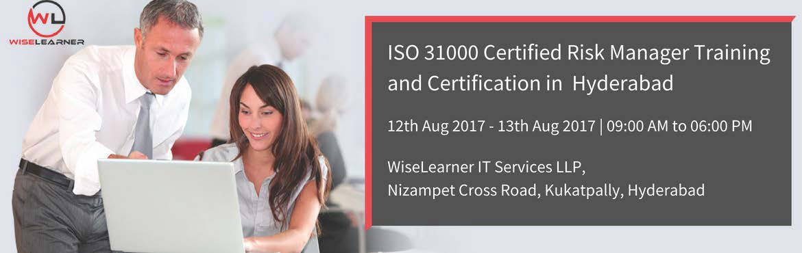 Book Online Tickets for ISO 31000 Certified Risk Manager Trainin, Hyderabad. OVERVIEW Develop the competence to master a model for implementing risk management processes throughout their organization using the ISO 31000 standard as a reference framework. Based on practical exercises, participants acquire the necessary knowled