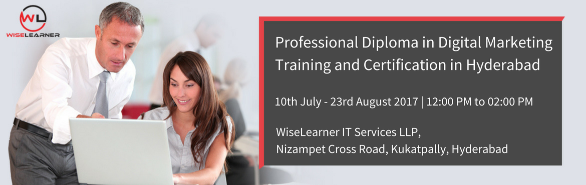 Book Online Tickets for Professional Diploma in Digital Marketin, Hyderabad. OVERVIEW The Digital Marketing enables you to harness the power of Digital Marketing as a core driver of the marketing strategy for your organisation. You will understand the foundation principles of Digital Marketing, and be able to distinguish how