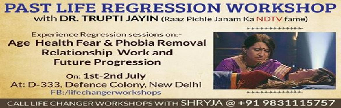 Book Online Tickets for PAST LIFE REGRESSION WORKSHOP, Delhi.                      Past Life Regression is a therapy which helps in removing the roots of theproblem in all spheres of your life. By collapsing the timeline between the cause and effect, we are able to rescript our lives with wisdom, fo