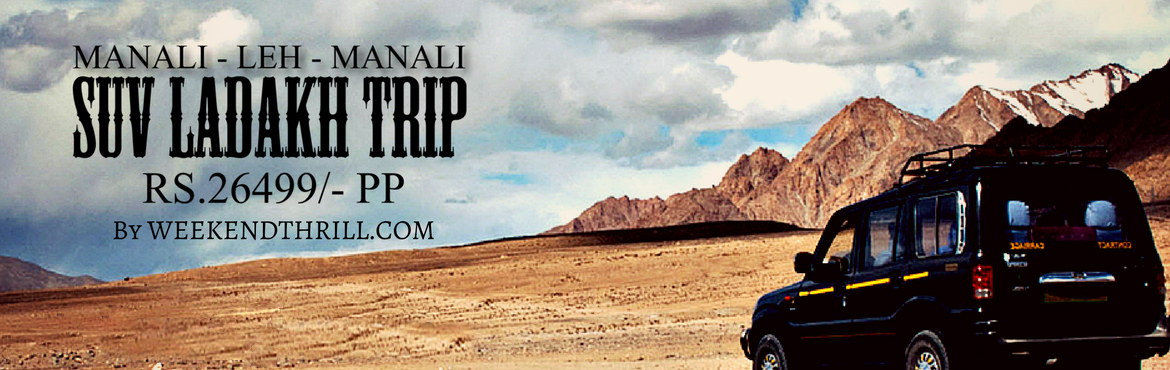 Book Online Tickets for Manali-Leh-Manali Package Tour- Road Tri, Ladakh. Activity: Road Trip Duration: 09 Nights / 10 DaysDestinations: Manali – Sarchu – Leh – Nubra – Pangong – Leh – Sarchu – ManaliPick Up and Drop: ManaliVehicle: Scorpio/Xylo/Tempo Trave