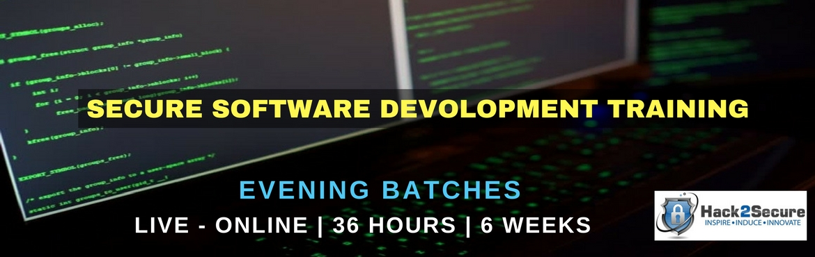 Book Online Tickets for Live Online | Secure Software Developmen, India.             Live Online | Evening Batch | 36 hours, 6 Weeks | SWADLP Exam Attempt Secure Software Development Life Cycle or Secure SDLC is a systematic and structured concept to integrate Securit